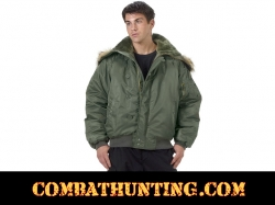 Military N-2B Parka Flight Jacket - Sage