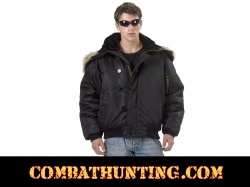 Military N-2B Parka Flight Jacket Black