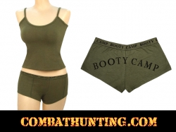 "Womens Olive Drab ""Booty Camp"" Booty Shorts"