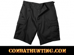 Black Rip-Stop BDU Shorts