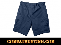 Navy Blue Rip-Stop BDU Shorts
