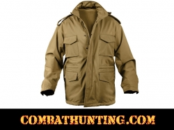 Rothco Soft Shell Tactical M-65 Jacket Coyote Brown
