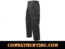 Black Tactical Duty Pants Comfort Waist