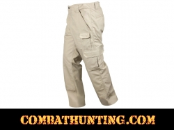 Khaki Tactical Duty Pants Comfort Waist