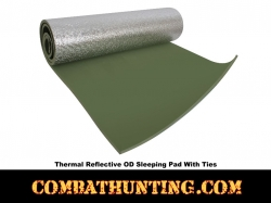 Thermal Reflective Olive Drab Sleeping Pad With Ties