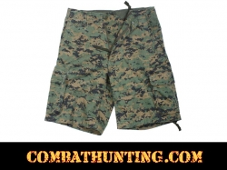 Woodland Digital Camo Vintage Infantry Utility Shorts