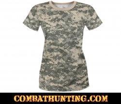 Women's Longer Acu Digital Camo T-Shirt