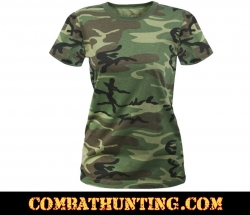 Women's Longer Woodland Camo T-Shirt
