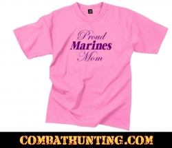 Proud Marines Mom Pink T-Shirt