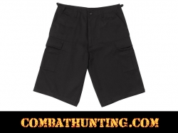 Rothco Black Long Length BDU Shorts
