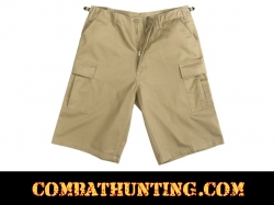 Rothco Khaki Long Length BDU Shorts