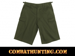 Rothco Olive Drab Long Length BDU Shorts