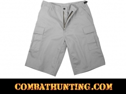 Rothco Grey Long Length BDU Shorts