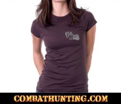 Rut Junkie Deer Skull & Arrow Women's T-Shirt