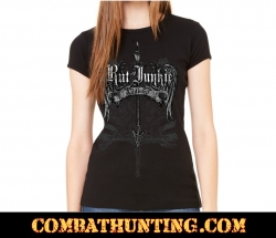 Rut Junkie Wings Addicted Womens T-Shirt