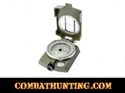 Military Lensatic Sighting Compass With Pouch