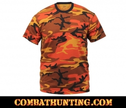 Savage Orange Camo T-Shirt