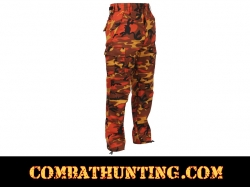 Savage Orange Camouflage BDU Pants