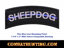 Sheepdog Thin Blue Line Morale Patch Black