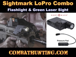 Sightmark LoPro Combo Flashlight & Green Laser Sight