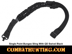 Single Point Bungee Sling with QD Swivel Black