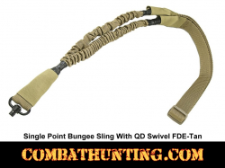 Single Point Bungee Sling with QD Swivel FDE Tan