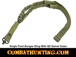 Single Point Bungee Sling with QD Swivel Green