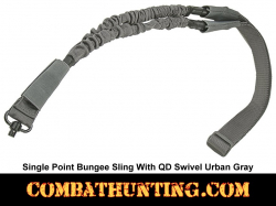 Single Point Bungee Sling with QD Swivel Urban Gray