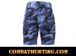 Sky Blue Camouflage BDU Shorts