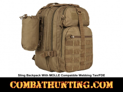 Sling Backpack With MOLLE Compatible Webbing Tan/FDE