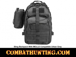 Sling Backpack MOLLE Compatible Urban Gray