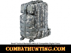 Small Tactical Backpack MOLLE Compatible Digital Camo