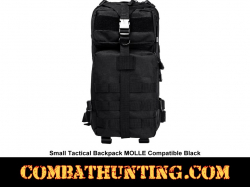 Small Tactical Backpack MOLLE Compatible Black