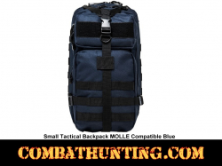 Small Tactical Backpack MOLLE Compatible Blue