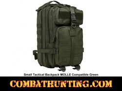 Small Tactical Backpack MOLLE Compatible Green