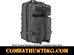 Small Tactical Backpack Urban Gray MOLLE Compatible