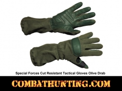 Special Forces Tactical Glove Kevlar Shell OD