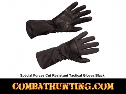 Special Forces Tactical Glove Kevlar Shell Black