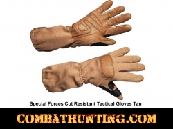Special Forces Tactical Glove Kevlar Shell Tan