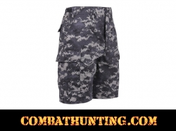 Subdued Urban Digital Camo BDU Military Shorts
