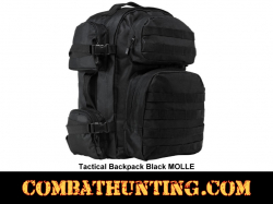 Tactical Backpack Black MOLLE