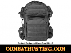Tactical Backpack Urban Gray MOLLE