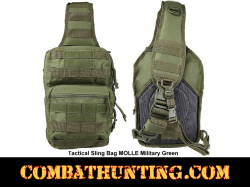 Tactical Sling Bag MOLLE Military Green