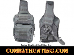 Urban Gray Tactical Sling Bag MOLLE