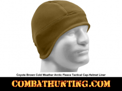 Arctic Fleece Tactical Cap/Helmet Liner Coyote Brown