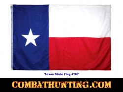 Texas State Flag With Two Metal Grommets 4' x 6'