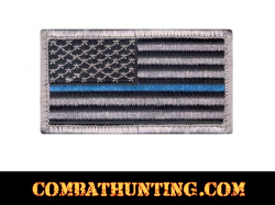 Police Thin Blue Line American Flag Patch