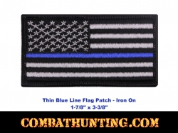 Thin Blue Line Flag Patch-Iron On