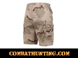 Tri-Color Desert Camo BDU Military Shorts