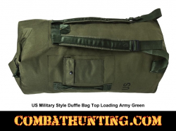 US Military Style Duffle Bag Top Loading Army Green